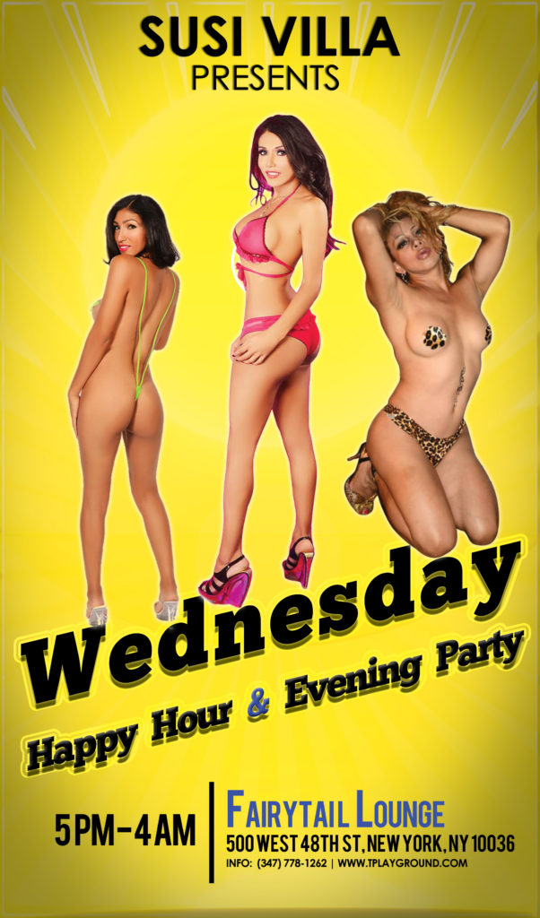 Wednesday Susi Villa TS Party @ Fairytail Lounge